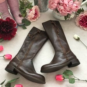 Anthropologie Long Leather Boots(NWOT)